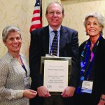 Marci Gerston of the Silicon Valley CRC with Marty Cooper and Maxine Richman. /JCPA